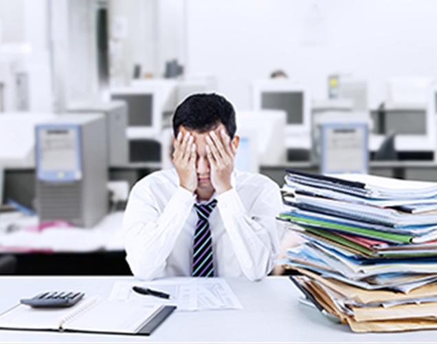 準備や手配の量が多すぎて、本業務に支障が出るの画像が表示されています。